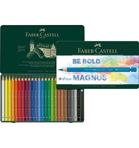 Faber-Castell - Albrecht Dürer Magnus watercolour pencil, tin of 24