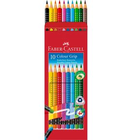 Faber-Castell - Coloured pencil Colour Grip erasable cardboard box of 10