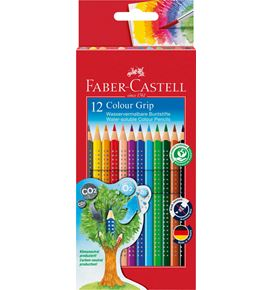 Faber-Castell - Colour Grip colour pencil, cardboard wallet of 12