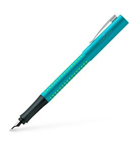Faber-Castell - Grip 2010 fountain pen, nib width M, turquoise-light green