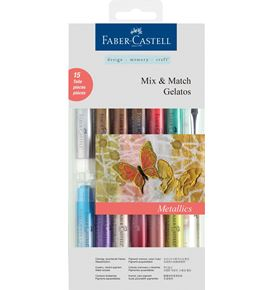 Faber-Castell - Watersoluble crayons Gelatos Metallic 15ct set