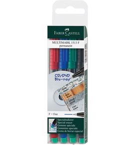 Faber-Castell - Marker Multimark permanent F wallet of 4