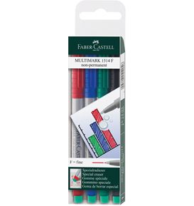 Faber-Castell - Marker Multimark non-permanent F wallet of 4