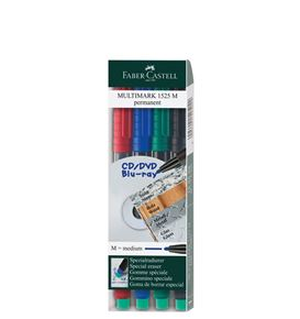 Faber-Castell - Marker Multimark permanent M wallet of 4