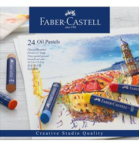 Faber-Castell - Oil pastel crayons box of 24