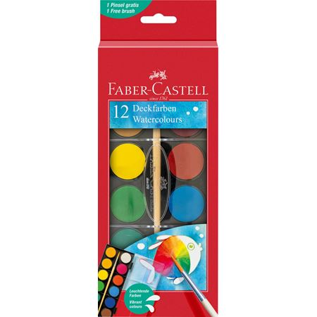 Faber-Castell - Watercolour paint box 12 colours