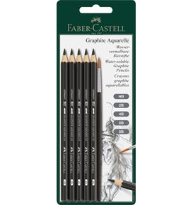 Faber-Castell - Watersoluble pencil Graphite Aquarelle 5x