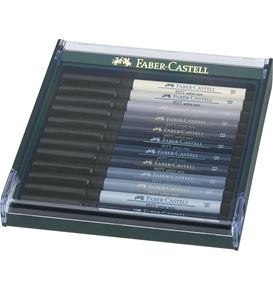 Faber-Castell - India ink Pitt Artist Pen B 12x grey