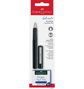 Faber-Castell - Fountain pen School+ carbon look