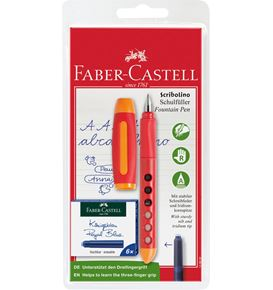 Faber-Castell - Scribolino school fountain pen set, right-hander, 7 pieces