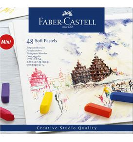 Faber-Castell - Soft pastels Mini cardboard box of 48