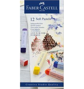 Faber-Castell - Soft pastels cardboard box of 12